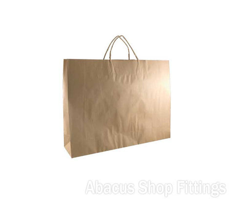 KRAFT PAPER BAG BROWN - BOUTIQUE Pkt/50