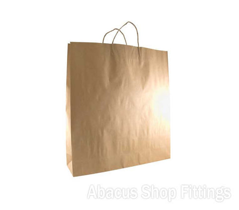 KRAFT PAPER BAG BROWN - LARGE Ctn/250