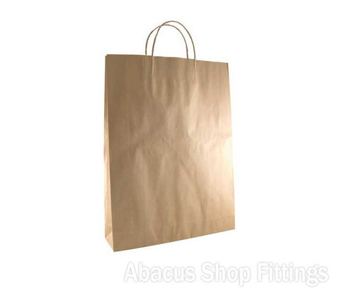 KRAFT PAPER BAG BROWN - #18 MEDIUM Pkt/50
