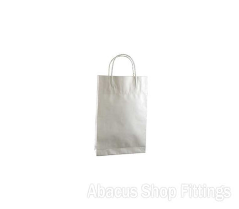 KRAFT PAPER BAG WHITE - BABY Pkt/50