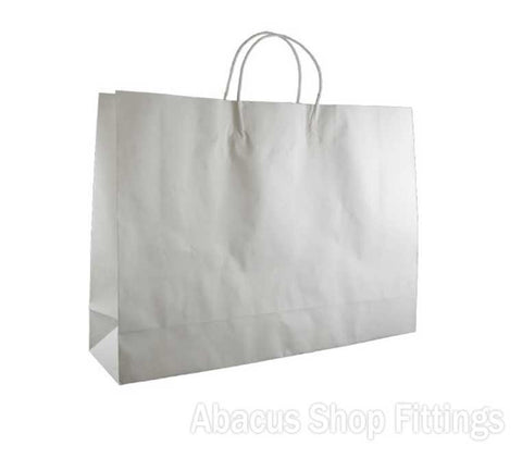 KRAFT PAPER BAG WHITE - BOUTIQUE Ctn/250