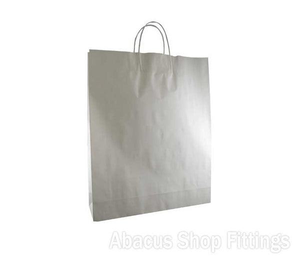 KRAFT PAPER BAG WHITE - MEDIUM Ctn/250