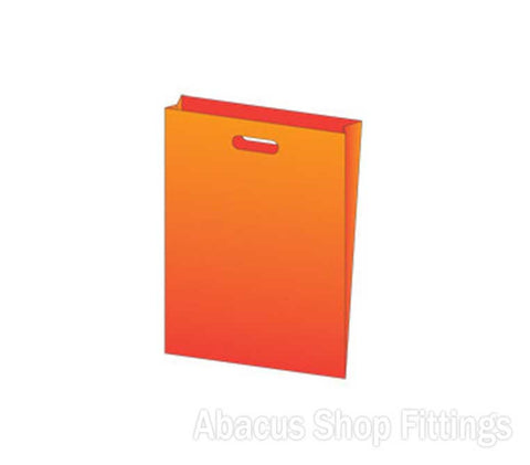 LDPE PLASTIC BAG SMALL - ORANGE Pkt/100