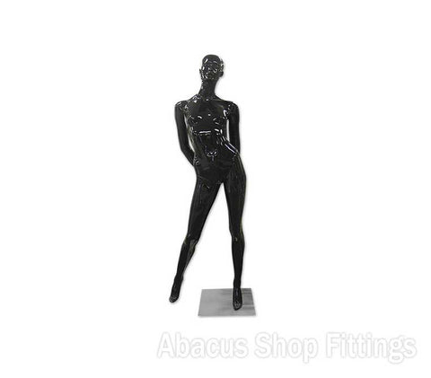 MANNEQUIN FEMALE BLACK GLOSS