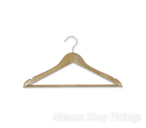 TIMBER ADULT HANGER NATURAL (CTN/100)