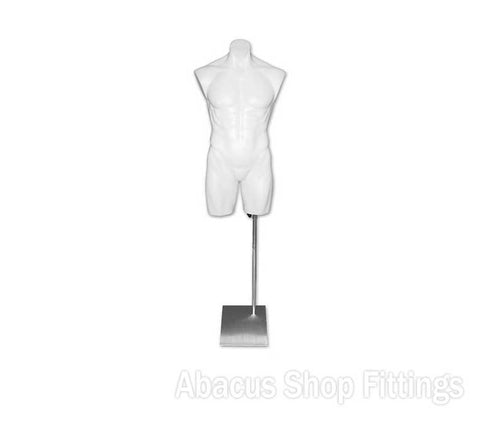 TORSO MALE PLASTIC - WHITE