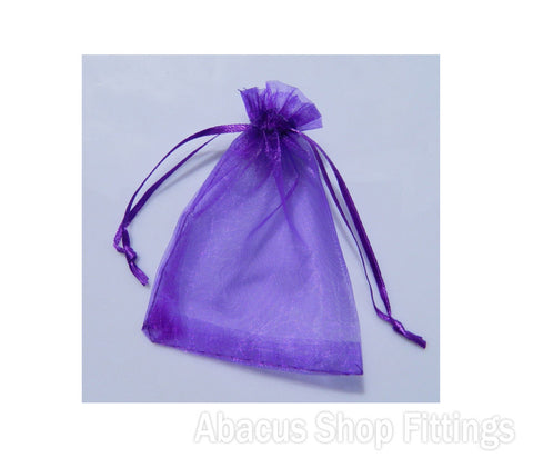 ORGANZA BAG 7X9CM PURPLE PKT/10