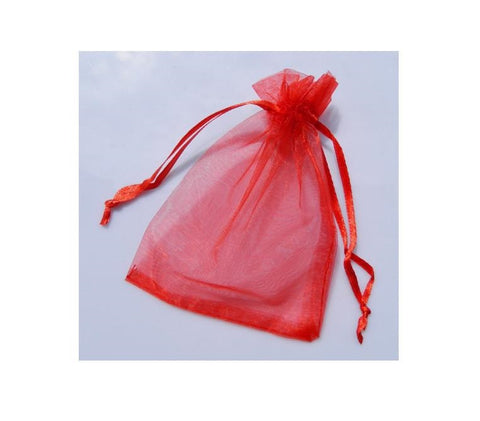 ORGANZA BAG 10X15CM RED PKT/10