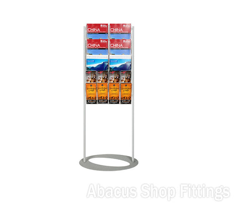 BROCHURE FOYER - 6 A4 + 8 DL HOLDERS SMALL LOBBY STAND