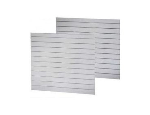 Slatwall 1200X1200 with 100mm extrusions White