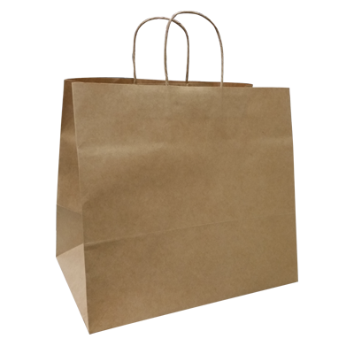 KRAFT PAPER BAG BROWN - TAKEAWAY LG Ctn/100