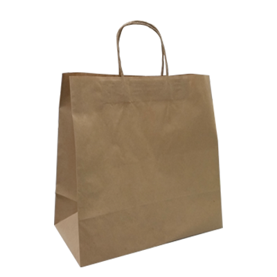 KRAFT PAPER BAG BROWN - TAKEAWAY  MED Ctn/250