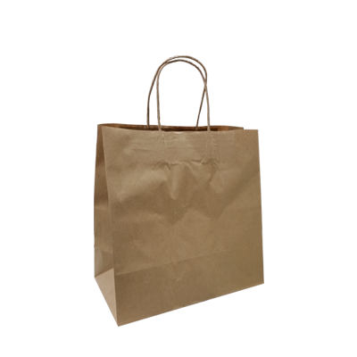 KRAFT PAPER BAG BROWN - TAKEAWAY  SM Ctn/250