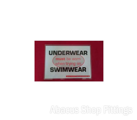 SHOWCARD UNDERWEAR MUST BE WORN