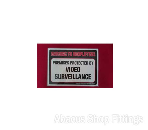 SHOWCARD VIDEO SURVEILLANCE