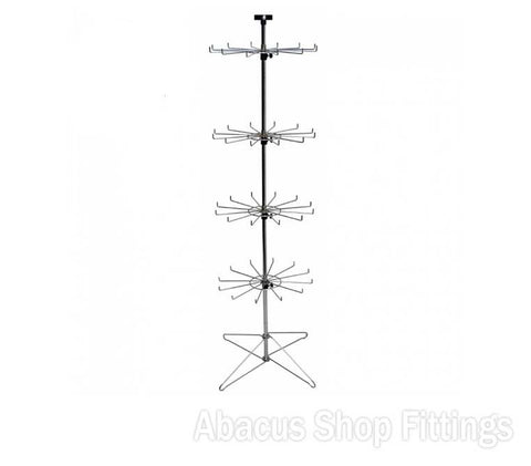 SPINNER - 12 PRONG 4 TIER FLOOR STAND