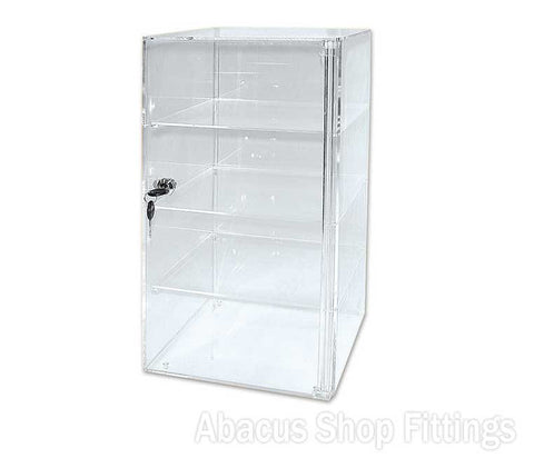 ACRYLIC FOUR SHELF DISPLAY CASE