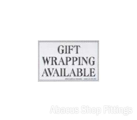 SHOWCARD - GIFT WRAPPING AVAILABLE