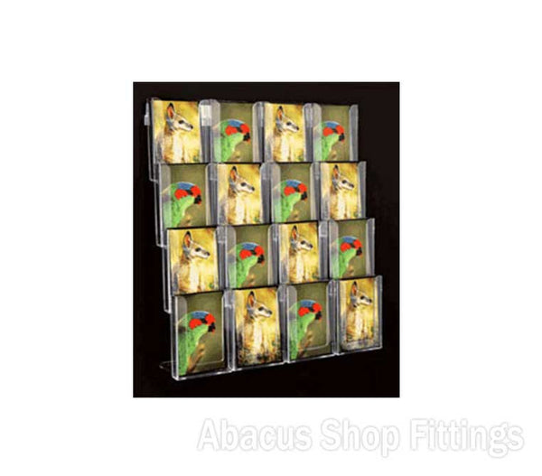 POSTCARD WALL DISPLAY - 16 VERTICAL HOLDERS
