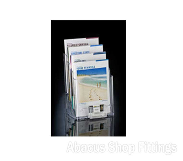 4 TIER A4 BROCHURE HOLDER & 1 HORIZONTAL BUSINESS CARD HOLDER