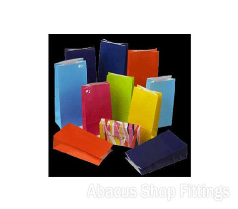 PAPER BAGS GIFT SMALL - VIOLET Pkt/100