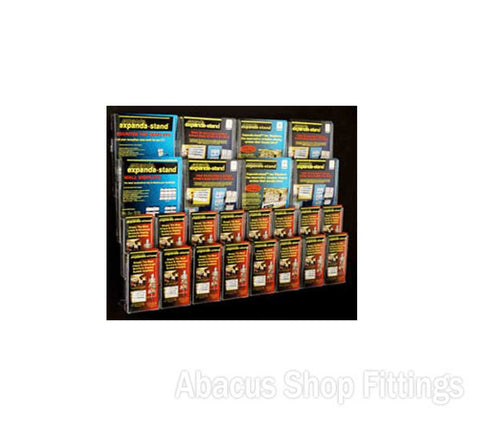 BROCHURE WALL DISPLAY - 16 DL & 8 A4 HOLDERS
