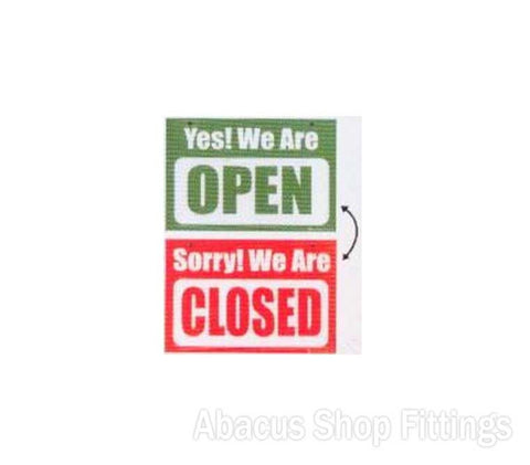 SHOWCARD - YES OPEN/SORRY CLOSED