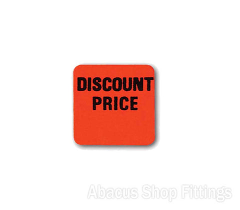 PRICE STICKERS FLURO ORANGE SQUARE - DISCOUNT PRICE (1000)