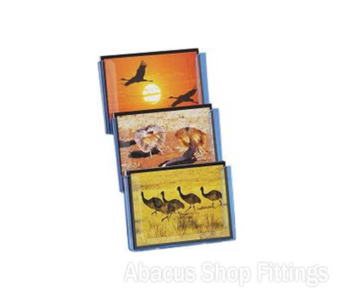 POSTCARD COUNTER DISPLAY - 3 HORIZONTAL