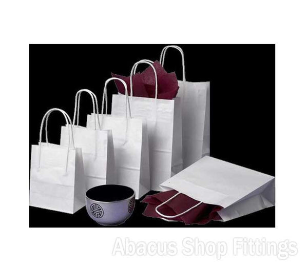 KRAFT PAPER BAG WHITE - PETITE Ctn/250