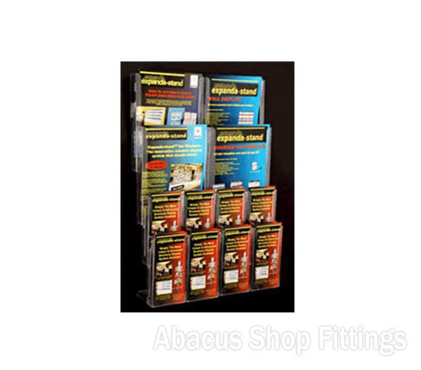 BROCHURE WALL DISPLAY - 8 DL & 4 A4 HOLDERS