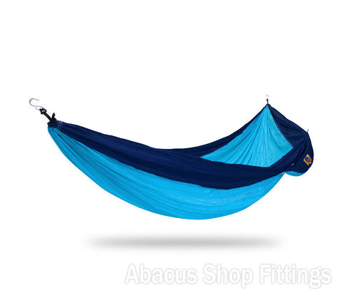 Ticket to the moon Single Hammock Light blue / Royal blue