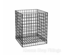 WIRE DUMP BIN - LARGE COLLAPSIBLE BLACK