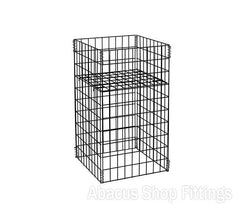 WIRE DUMP BIN - SMALL COLLAPSIBLE BLACK