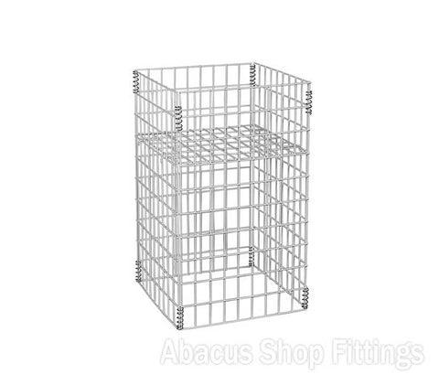 WIRE DUMP BIN - SMALL COLLAPSIBLE WHITE
