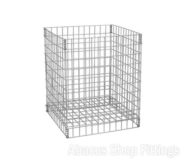 WIRE DUMP BIN - LARGE COLLAPSIBLE WHITE