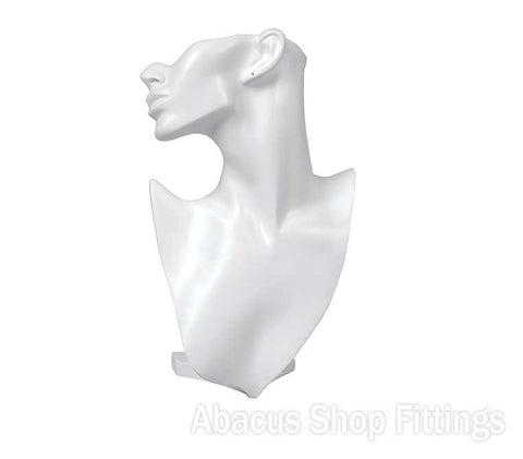SCULPTED BUST LG WHITE