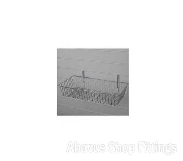 SLATWALL BASKET CHROME SMALL