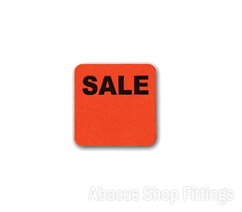 PRICE STICKERS FLURO ORANGE SQUARE - SALE (1000)