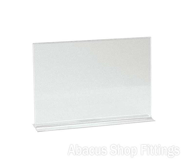 ACRYLIC A4 D/SIDED L/SCAPE SIGN HOLDER