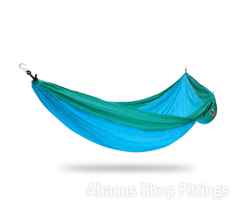 Ticket to the moon Single Hammock Turquoise / Green