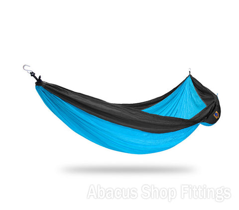 Ticket to the moon Double Hammock Turquoise / Dark grey