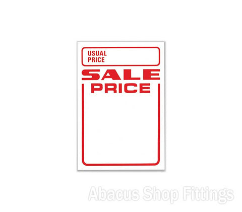 PRICE STICKERS - USUAL PRICE/SALE PRICE BOX 500