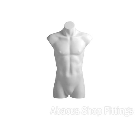 TORSO MALE PLASTIC WHITE