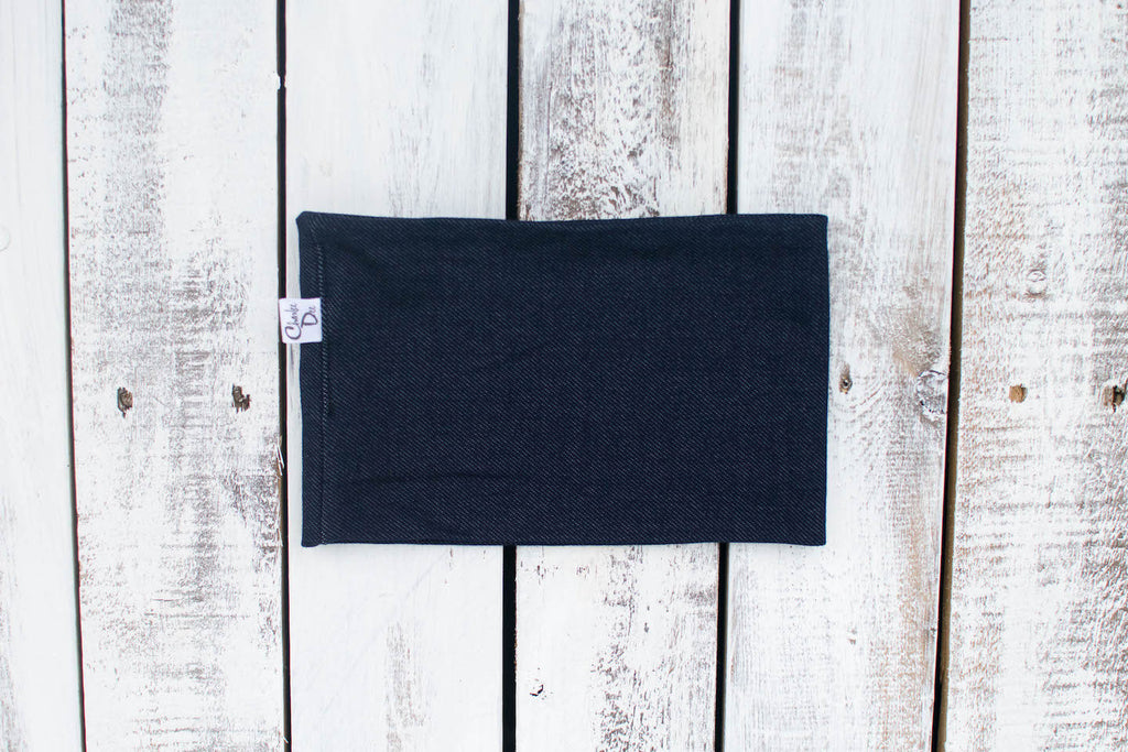 Navy Denim Cowl
