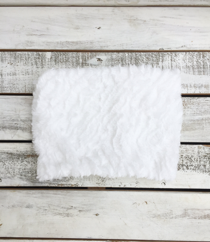 White Faux Fur Scarf