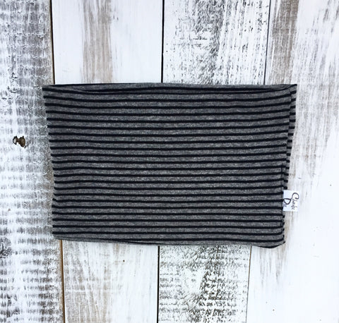 Grey & Black Stripe Cowl