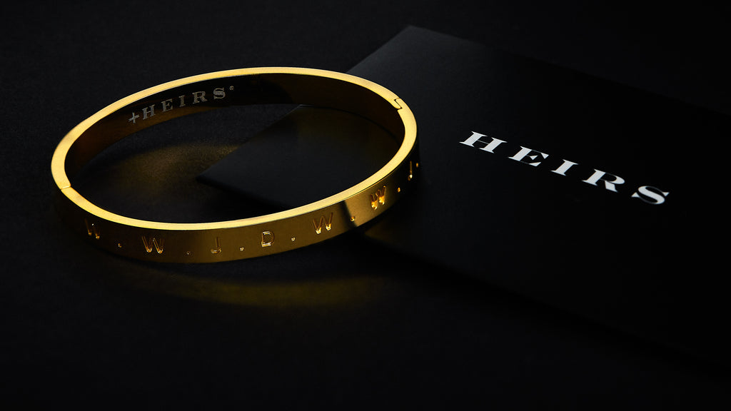 Le GRAND HEIRS 'Unconditional Bracelet ™' - 14K Gold Plate