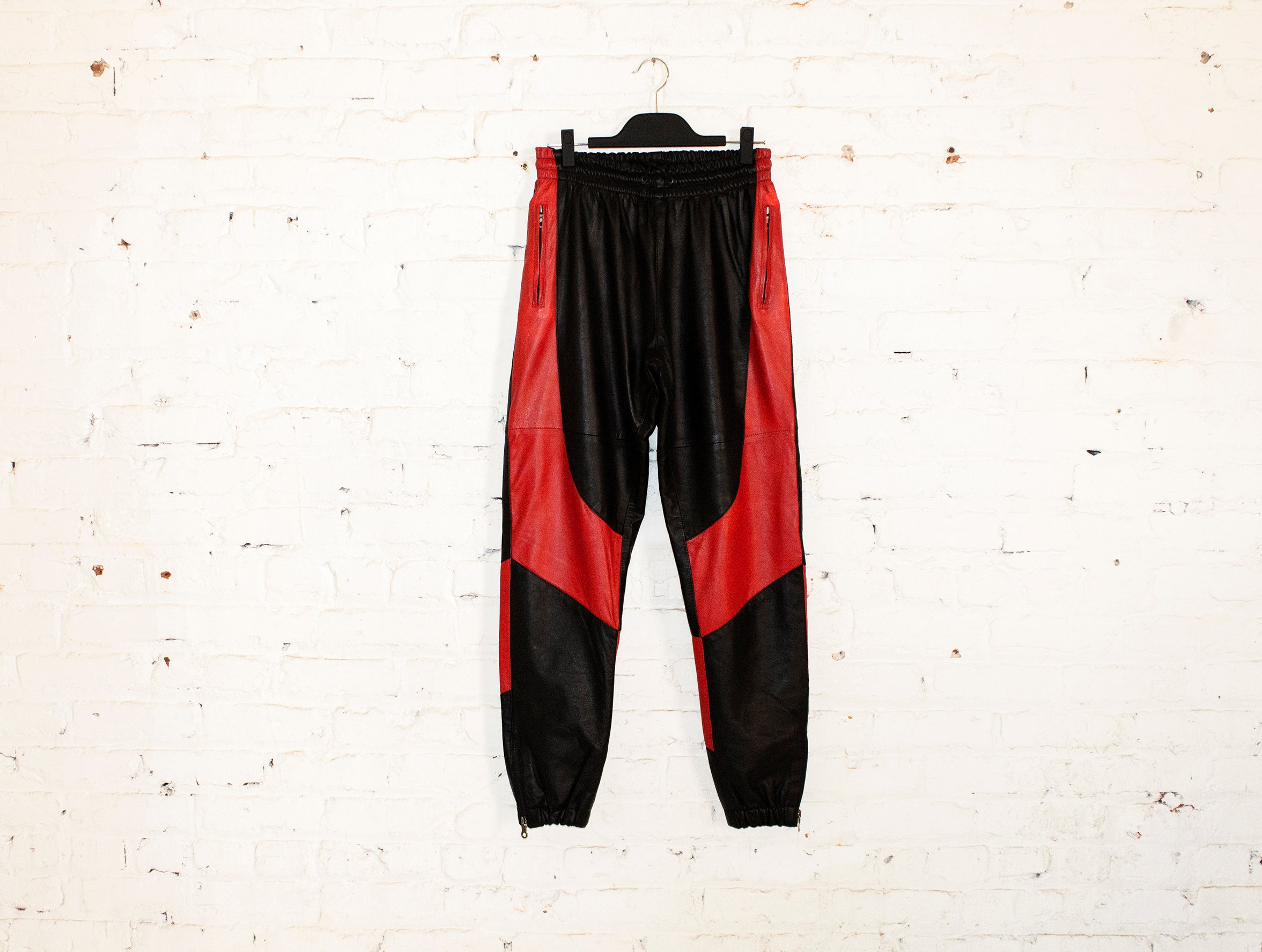 H E I R S 'SkyDweller' Leather Legacy Track Pants (Bred)