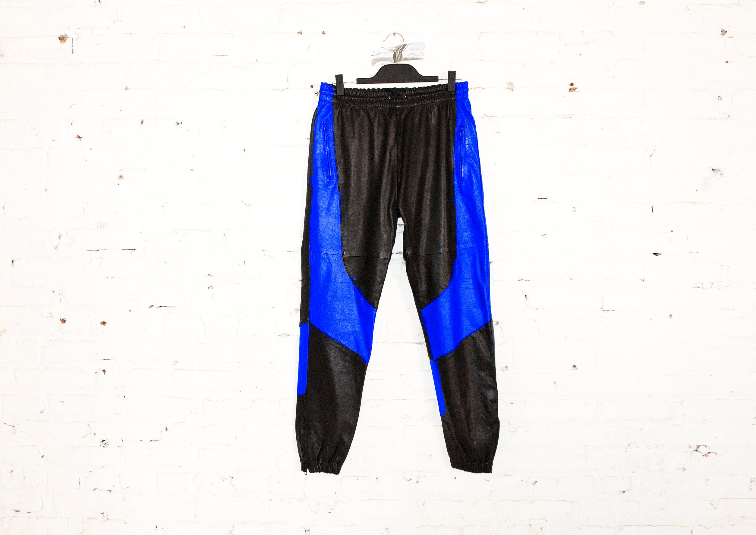 H E I R S 'SkyDweller' Leather Legacy Track Pants (Royal)